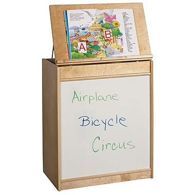 ECR4Kids® Big Book Display and Storage Dry-Erase Board, Natural