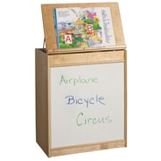 ECR4Kids® Big Book Display and Storage Dry-Erase Board, Natural