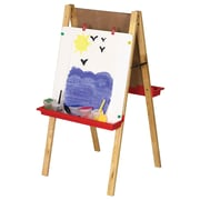 ECR4Kids® Double-Sided Adjustable Dry-Erase And Chalkboard Easel