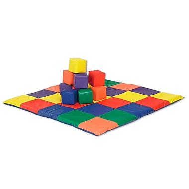 ECR4Kids® Softzone® Patchwork Mat and Blocks Play Set