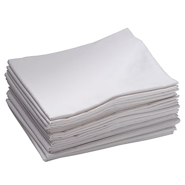 ECR4Kids® Standard Cot Sheet, White, 12/Pack