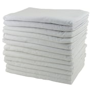 ECR4Kids® Rest Time Cot Blanket, White, 12/Pack