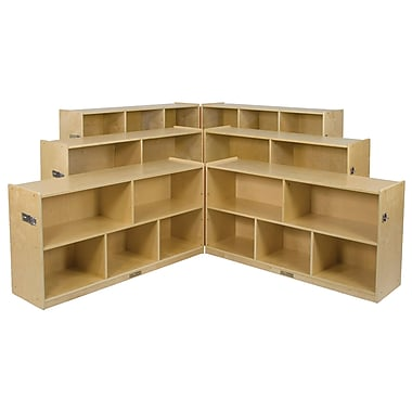 ECR4Kids® 30in. 5 Compartment Birch Fold and Lock Cabinet, Natural