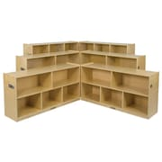 "ECR4Kids® 36"" 8 Compartment Birch Fold and Lock Cabinet, Natural"