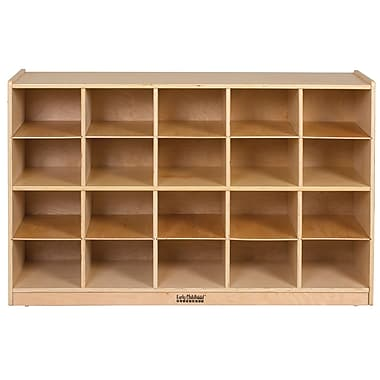 ECR4Kids® Birch Storage Cabinet With 20 Tray Cubbies, Natural