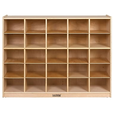 ECR4Kids® 25 Tray Storage Cabinet, Natural