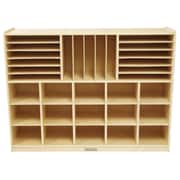 ECR4Kids® Multi-Section Storage Cabinet, Natural