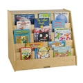 ECR4®Kids Book Display With Shelf Storage Unit, Natural