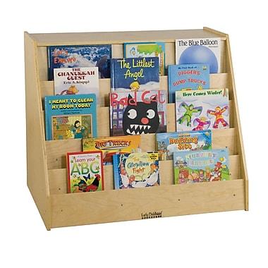 ECR4Kids® Book Display With Shelf Storage Unit, Natural