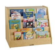 ECR4Kids® Book Display With Shelf Storage Unit, Natural