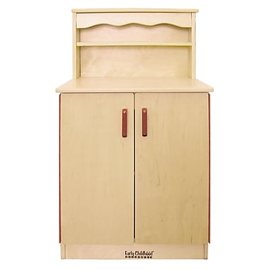 ECR4Kids® Play Kitchen Cupboard, Natural