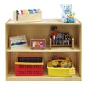 ECR4®Kids 2 Shelf Storage Cabinet With Back, Natural
