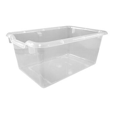 ECR4Kids® Scoop Front Storage Bin, Clear