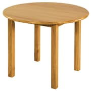 ECR4Kids® 30 Round Wood Table With 18 Legs, Natural Oak