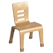 "ECR4Kids® 14""(H) Bentwood Chair, Natural, 2/Pack"