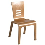"ECR4Kids® 18""(H) Bentwood Chair, Natural, 2/Pack"