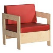 ECR4Kids® Birch Living Room Chair, Red