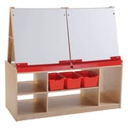 ECR4Kids® 4 Station Art Easel With Storage