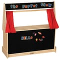 ECR4Kids® Hardwood Puppet Theater With Black Flannel