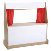 ECR4Kids® Hardwood Puppet Theater With White Dry-Erase Board