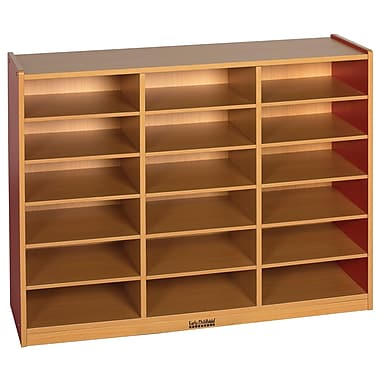 ECR4Kids® Colorful Essentials 18-Compartment Multi-Purpose Cabinet, Red