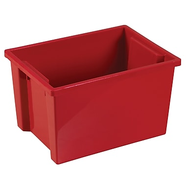 Large Storage Bin without Lid - Red