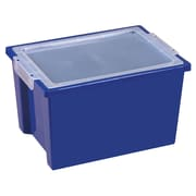 ECR4Kids® Large Storage Bins With Lid, Blue