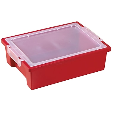 Small Storage Bins with Lid - Red