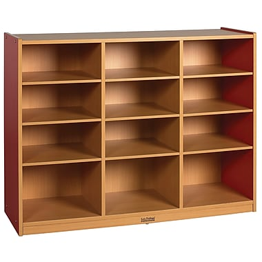 ECR4Kids® Colorful Essentials 12 Compartment Multi-Purpose Cabinet, Red