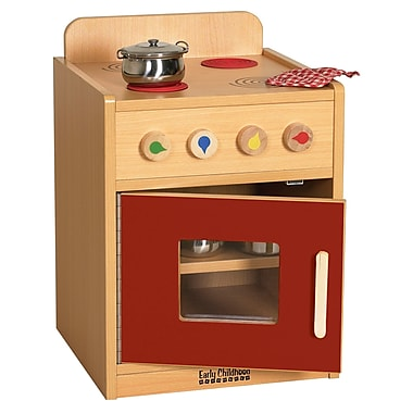 ECR4Kids® Colorful Essentials Play Kitchen Stove, Red