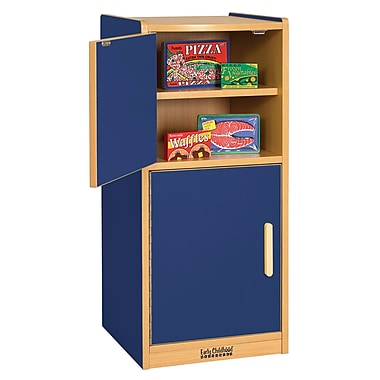 ECR4Kids® Colorful Essentials Play Kitchen Refrigerator, Blue