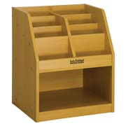 ECR4Kids® Single-Sided Book Storage With Tray, Red