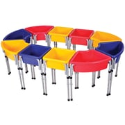 ECR4Kids® 10 Station Sand and Water Play Table With Lids, Blue/Red/Yellow