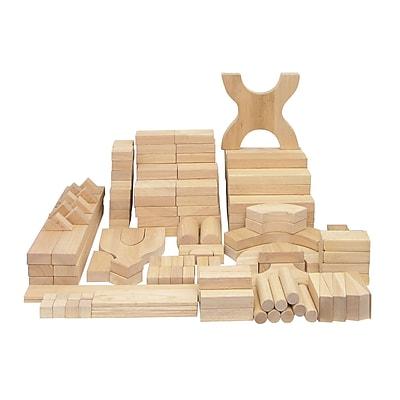 ECR4Kids Solid Hardwood Building Block Set, 170-Piece