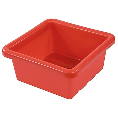 Square Tray without Lid - Red