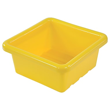 Square Tray without Lid - Yellow