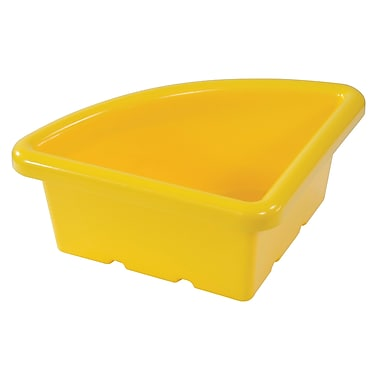 Quarter Circle Tray without Lid - Yellow