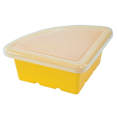 Quarter Circle Tray with Lid - Yellow
