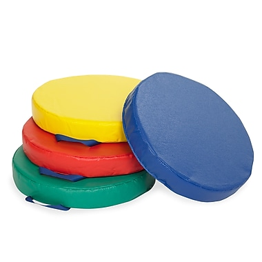 ECR4Kids® Softzone® Round Carry Me Cushion, 4 Pieces/Set