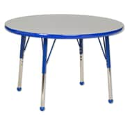 ECR4Kids® 36 Round Activity Table With Toddler Legs & Ball Glide, Gray/Blue/Blue