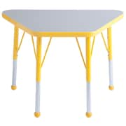 "ECR4Kids® 18"" x 30"" Trapezoid Activity Table With Toddler Legs & Ball Glide, Gray/Yellow/Yellow"