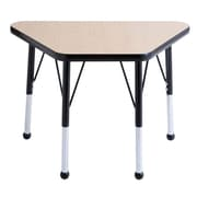 "ECR4Kids® 18"" x 30"" Trapezoid Activity Table With Toddler Legs & Ball Glide, Maple/Black/Black"