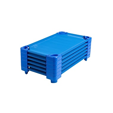ECR4Kids® Standard Stackable Assembled Kiddie Cot, Blue