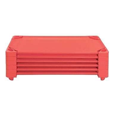 ECR4Kids® Standard Stackable Assembled Kiddie Cot, Strawberry