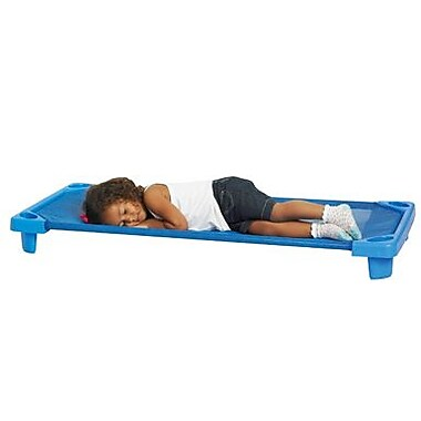 ECR4Kids® Single Standard Streamline Assembled Kiddie Cot, Blue