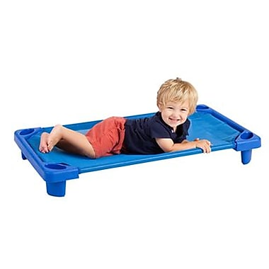 ECR4Kids® Single Toddler Streamline Assembled Kiddie Cot, Blue