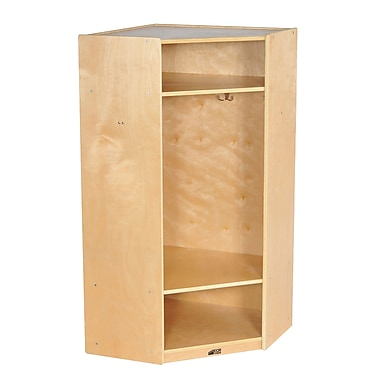 ECR4Kids® Corner Section Birch Straight Coat Locker, Natural