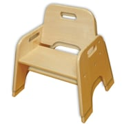 "ECR4Kids® 10""(H) Stackable Wooden Toddler Chair, Natural, 2/Pack"