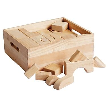 ECR4Kids® Solid Hardwood Building Block Set, 64-Piece