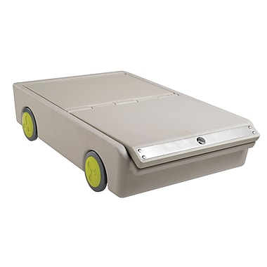 ECR4Kids® Under-Bed Personal Safe Lock and Roll Bin, Gray